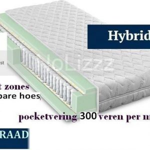 2-Persoons Matras -POCKET HYBRID 7 ZONE 21 CM - HARDHEIDSGRAAD (HARD) - 160x200/21