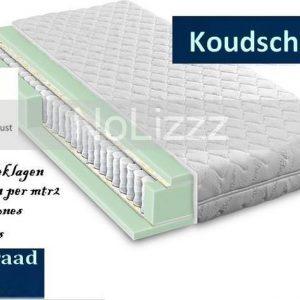 2-Persoons matras - Pocketvering met HR45 koudschuim- 21 cm dik - HARDHEIDSGRAAD (HARD) - 160x200/21