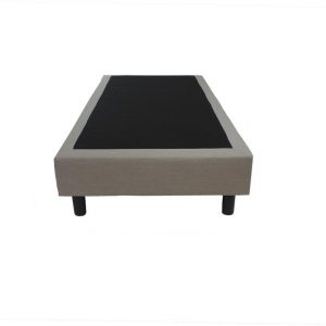 Bedworld Boxspring 80x200 cm zonder Matras - 1 Persoons Bed - Boxspring Bonellvering - Beige