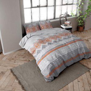 DreamHouse Bedding Olav - Flanel - Grijs 1-persoons (140 x 200/220 cm + 1 kussensloop) Dekbedovertrek