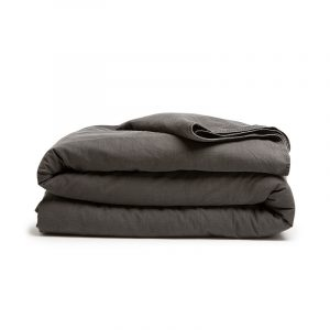 DreamHouse Bedding Stone Washed - Antraciet 1-persoons (140 x 200/220 cm + 1 kussensloop)