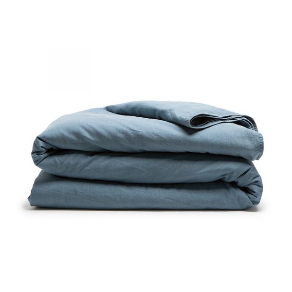 DreamHouse Bedding Stone Washed - Blauw 1-persoons (140 x 200/220 cm + 1 kussensloop)