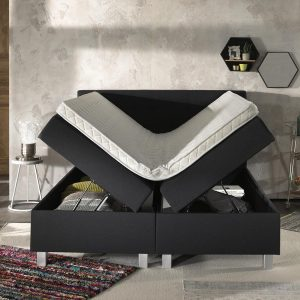Dreamhouse® Ilse Boxspring met Opbergruimte - Bed - 180 x 200 cm - Antraciet