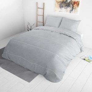 Sleeptime Elegance Elly Grey 140 x 220 Dekbedovertrek
