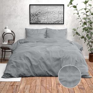 Zensation Nika - Grey 140 x 220 cm Dekbedovertrek