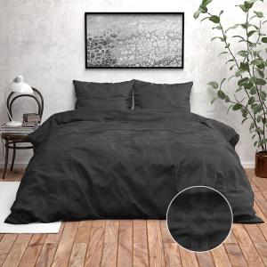 Zensation Nika -Zwart 140 x 220 cm Dekbedovertrek