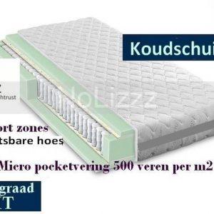 1-Persoons Matras - MICROPOCKET HR/Koudssschuim 7 ZONE 25 CM - 3D - HARDHEIDSGRAAD (ZACHT)! - 90x210/25