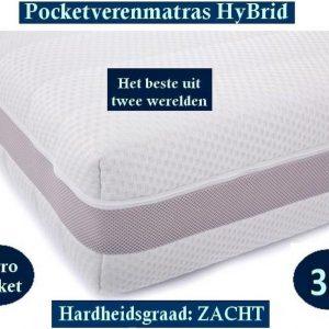 1-Persoons Matras -MICROPOCKET HYBRID 7 ZONE 23 CM - 3D - Zacht ligcomfort - 90x200/23
