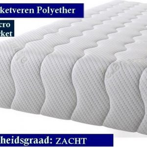 1-Persoons Matras - MICROPOCKET Polyether SG30 7 ZONE 23 CM - Zacht ligcomfort - 90x200/23
