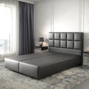 Boxspring-frame Dream-Fine kunstleder zwart 140x200