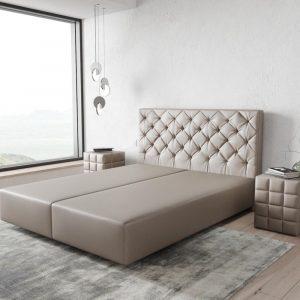 Boxspring-frame Dream-Great kunstleder taupe 160x200