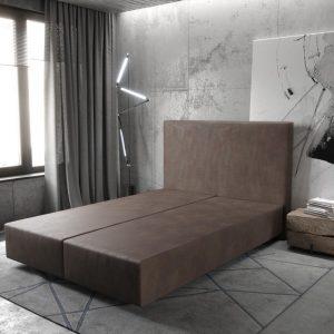 Boxspring frame Dream-Well Donkerbruin 140x200 cm Imitatieleer Beddengoed