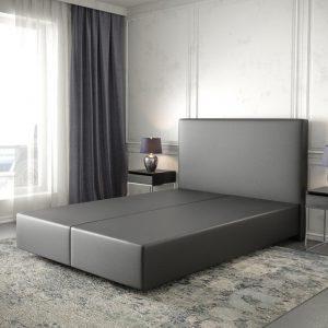 Boxspring frame Dream-Well Zwart 140x200 cm Kunstleder Beddengoed