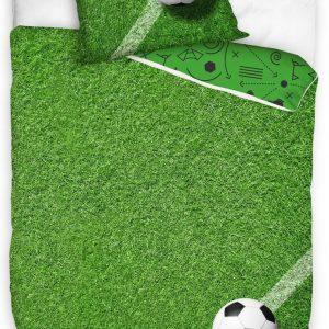 Carbotex Dekbedovertrek Soccer Junior 140 X 200 Cm Katoen Groen