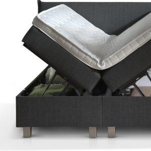 Dreamhouse® Plane Twijfelaar Boxspring met Opbergruimte - Bed - 140 x 200 cm - Antraciet