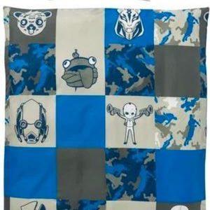 Fortnite Eenpersoons Dubbelzijdig dekbedovertrek blauw - 140 x 200 + 60 x 70 cm