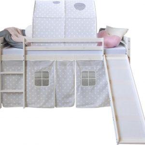 Kinderbed - Tienerbed - Kinderbedden - Peuterbed - Jongens - Meisjes - Modern - Wit - GrenenHout - 207 cm x 110 cm x 97 cm