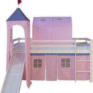 Kinderbed - Tienerbed - Kinderbedden - Peuterbed - Jongens - Meisjes - Modern - Wit - GrenenHout - 207 cm x 97 cm x 110 cm
