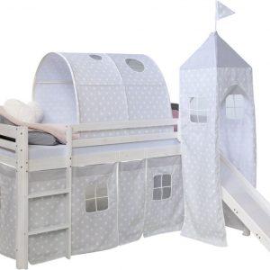 Kinderbed - Tienerbed - Kinderbedden - Peuterbed - Jongens - Meisjes - Modern - Wit - GrenenHout - 97 cm x 207 cm x 228 cm