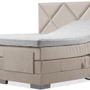 Luxe Boxspring 140x210 Elektrische Beige Suite