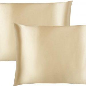 Maisson - Satijnen kussensloop - Beauty pillowcase - 60 x 70 cm - Set van 2 - Champagne - Anti allergeen