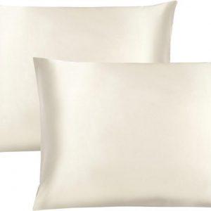Maisson - Satijnen kussensloop - Beauty pillowcase - 60 x 70 cm - Set van 2 - Wit - Anti allergeen