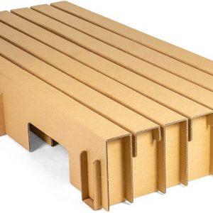Paperbed Paper Bed met Easy Pocket matras - 160 x 200 cm - bruin