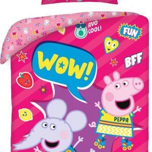 Peppa Pig Dekbedovertrek Wow! 140 x 200 cm + 70 x 90 cm Katoen