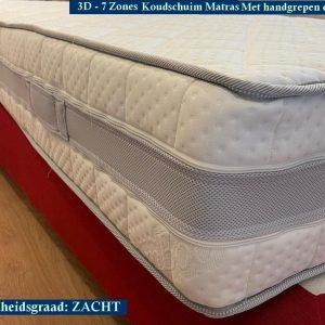 Royal Elite Matras 3D - Micro Pocket Bamboo HR45 Koudschuim 7 zones met Biez 23CM - Zacht ligcomfort - 80x200/23