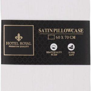 Satijnen Kussensloop - 60 x 70cm - Hotel Royal - Hotel Kussensloop - Luxe Kussensloop - Wit