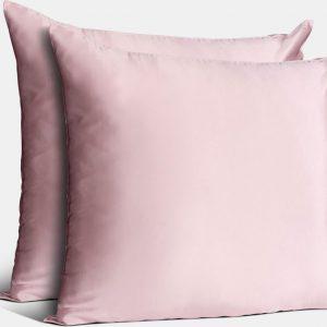 Silky Pink Deluxe duo pack - Zijden kussensloop - 100% Moerbei zijde - 22 momme - 60x70cm