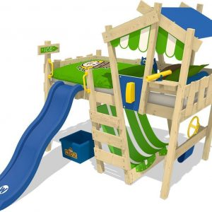 WICKEY CrAzY Hutty - Kinderbed - Blauwe glijbaan