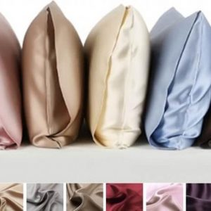 Zijden kussensloop, Crème wit, 65x65cm, housewife-style 100% zijde, 405thread count(19momme)